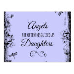 Daughters Quote: Angels are often Postcards