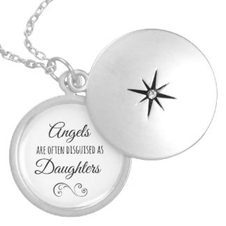 Daughters Quote: Angels are often Silver Plated Necklace
