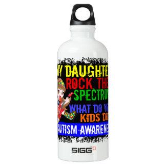 Daughters Rock The Spectrum Autism Aluminum Water Bottle