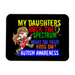 Daughters Rock The Spectrum Autism Rectangle Magnets