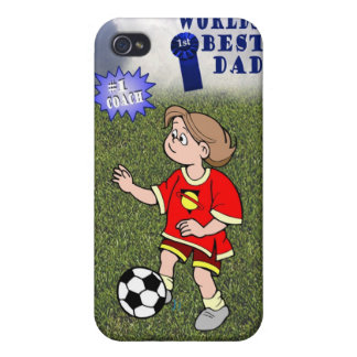 Daughters Soccer Practice Worlds Best Dad #1 Coach iPhone 4 Cases