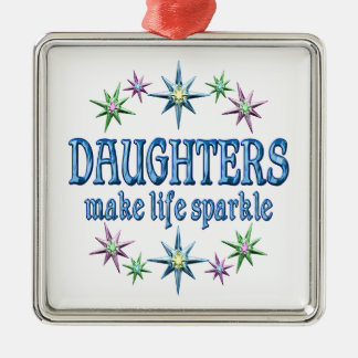 Daughters Sparkle Metal Ornament