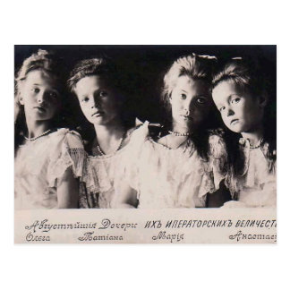 Daughters Tsar - OTMA Romanov of Russia #256 Postcard