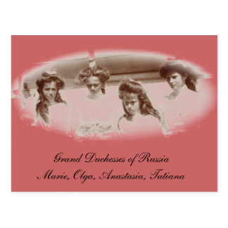 Daughters Tsar OTMA Romanov Russia #267 Postcard