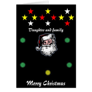 Daugther and family Christmas cards