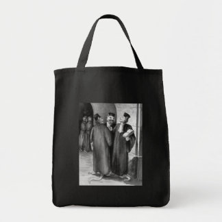 Daumier Cat Lawyers Grocery Tote Bag