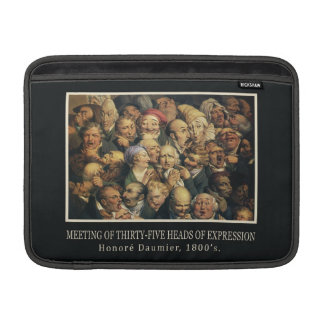 """Daumier's Expressions 13"""" MacBook sleeve"""