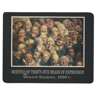 Daumier's Expressions custom pocket journal