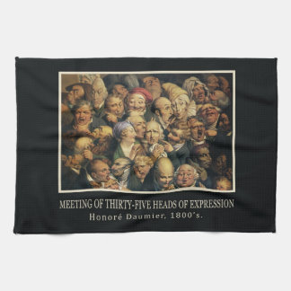 Daumier's Expressions hand towel