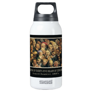 Daumier's Expressions Insulated Water Bottle