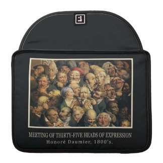 Daumier's Expressions MacBook sleeves