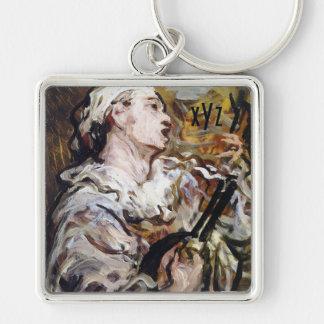 Daumier's Pierrot art custom key chain
