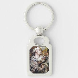Daumier's Pierrot art custom key chain Key Rings