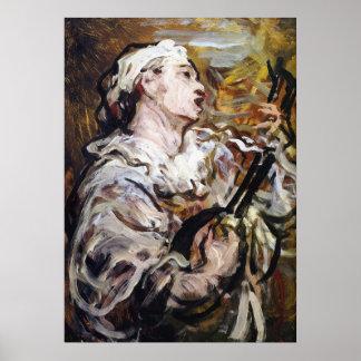 Daumier's Pierrot art poster