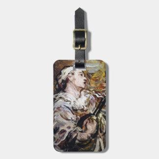 Daumier's Pierrot custom luggage tag