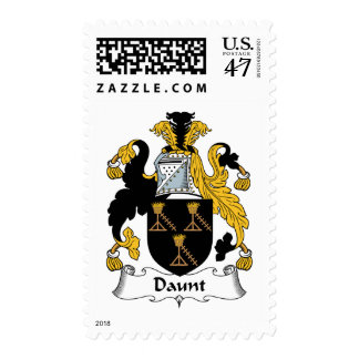 Daunt Family Crest Postage