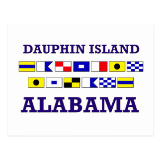 Dauphin I. Flag Postcard