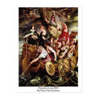 Dauphin Louis Xiii By Peter Paul Rubens Postcard