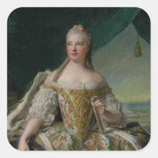 Dauphine Marie-Josephe de Saxe 1751 Calcomania Cuadrada Personalizada