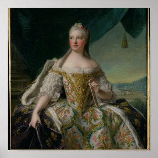 Dauphine Marie-Josephe de Saxe 1751 Póster
