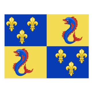 Dauphine Of France, France flag Postcard