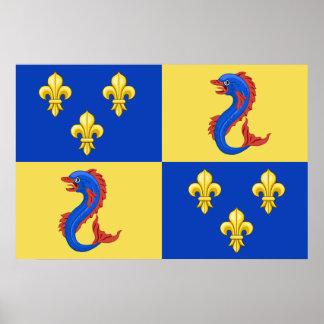 Dauphine Of France, France flag Print