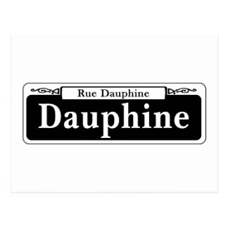 Dauphine St., New Orleans Street Sign Postcard