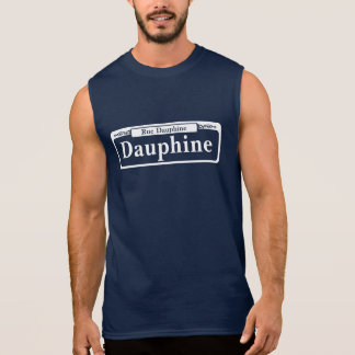 Dauphine St., New Orleans Street Sign Sleeveless Shirt