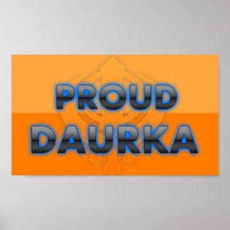 Daurka orgulloso orgullo de Daurka Poster