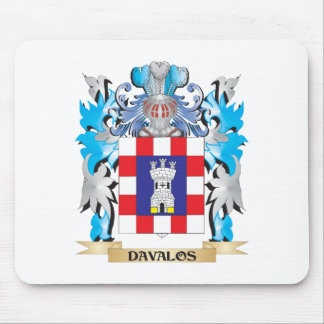 Davalos Coat of Arms - Family Crest Mousepad