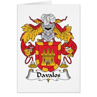 Davalos Family Crest Card