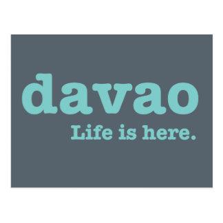 Davao. Life is here. Postcard