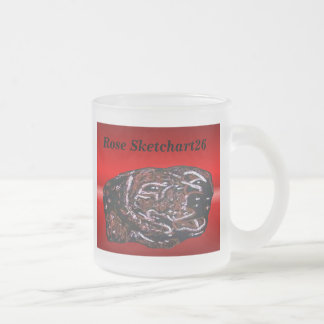 Dave 10 Oz Frosted Glass Coffee Mug