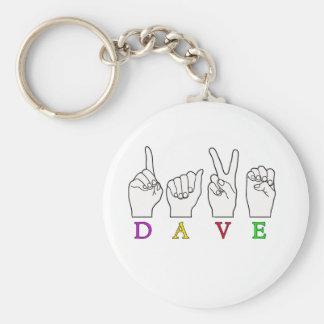 DAVE ASL FINGERSPELLED ASL NAME SIGN KEY CHAINS