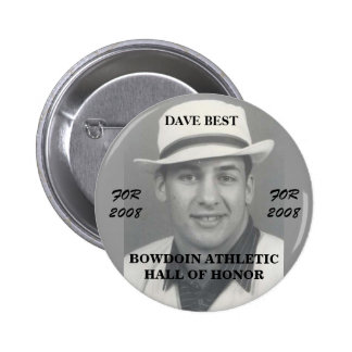 Dave Best 4 Bowdoin College Athletic Hall of Honor Button