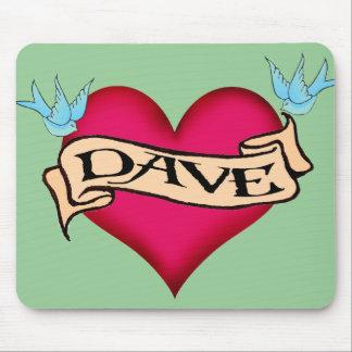 Dave - camisetas y regalos de encargo del tatuaje tapete de ratones