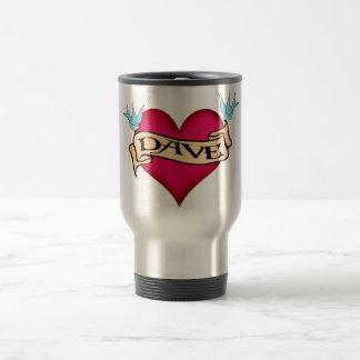 Dave - camisetas y regalos de encargo del tatuaje taza térmica