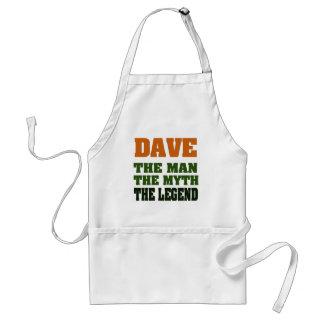 ¡Dave - el hombre, el mito, la leyenda! Delantal