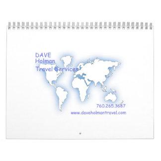 Dave Holman Travel Services Calendar