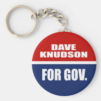 DAVE KNUDSON FOR GOVERNOR KEY CHAIN