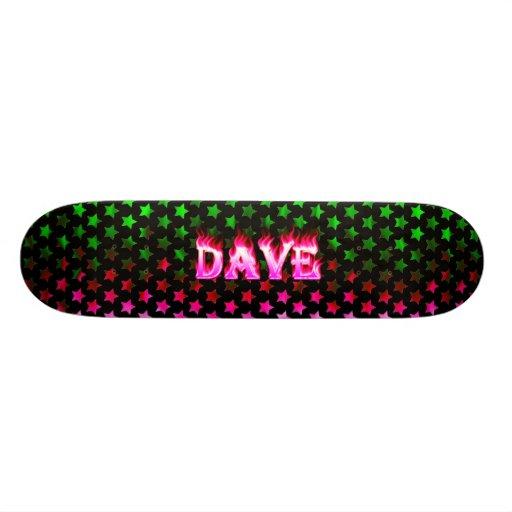 Dave pink fire Skatersollie skateboard.