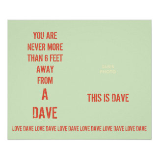 DAVE Poster (Photograph Template)