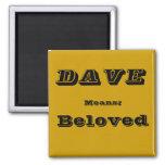 Dave Refrigerator Magnet