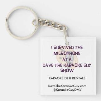 "Dave The Karaoke Guy ""I Survived"" Keychain"