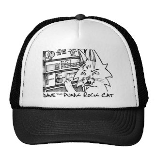 Dave the Punk Rock Cat Stereo Trucker Hat