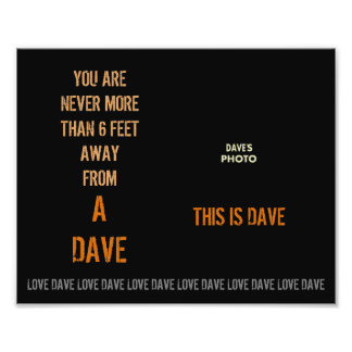 DAVE with Photograph Template Poster