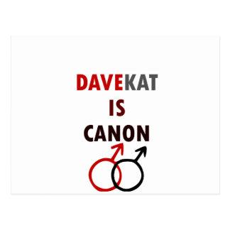 Davekat Is Canon (v1) Postcard