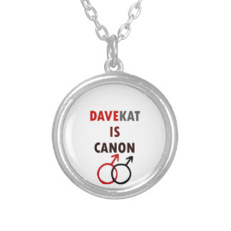 Davekat Is Canon (v1) Silver Plated Necklace