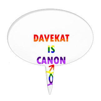Davekat Is Canon (v2) Cake Topper