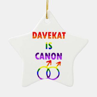 Davekat Is Canon (v2) Ceramic Ornament